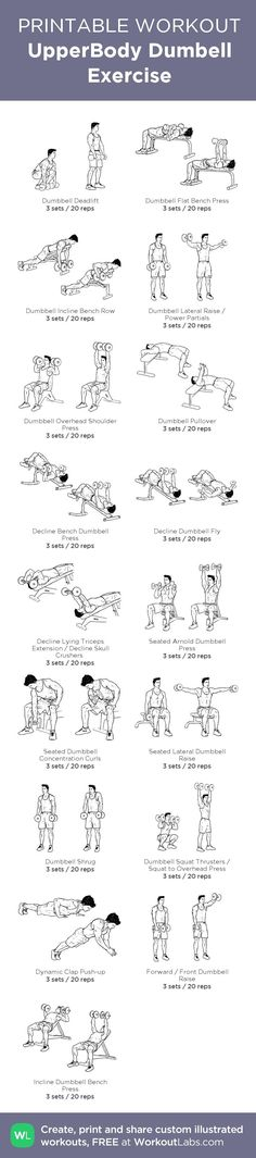 Upper Body Dumbbell Workout | Posted by: CustomWeightLossProgram.com