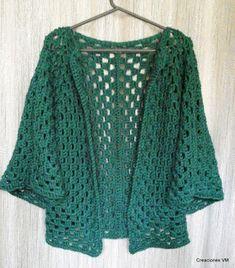 La imagen puede contener: una o varias personas - Zeu Sidius Chunky Knitting Patterns, Crochet Cardigan Pattern, Crochet Blouse, Crochet Shawls And Wraps, Crochet Fashion, Crochet Clothes, Crochet Sweaters, Hand Crochet, Couture