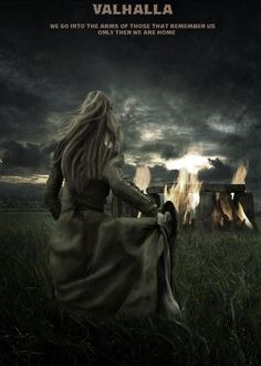 Strange picture... is that Stonehenge burning? Why is it burning? Since when did anyone connect Valhalla with Stonehenge? And what's the origin behind the picture?