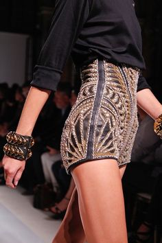 Theyallhateus.com Sequin sparkles beaded shorts high waist pants