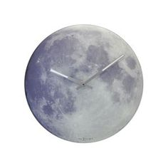 The Blue Moon Wall Clock by NeXtime is a glass clock made with state of the art glow in the dark technology. The clock gives off a mild and ghostly glow over an image of the moon, and is faintly visible in the dark. Dark Moon, Blue Moon, Moon Moon, Moon Clock, Josie Loves, College Walls, Wall Mounted Shelves, Glass Shelves, Shelf Wall