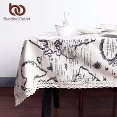 Alert 2018 New Arrivals Modern Style Beddingoutlet Deer And Leaves Printed Tablecloth Cotton And Linen Dinner Table Cloth Refreshment Table & Sofa Linens