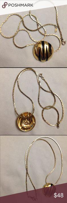 """Park lane necklace Park lane vintage pendant signed park lane and 24"""" necklace signed Korea gold tone Park Lane Jewelry Necklaces"""