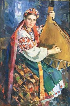 🇺🇦🌻Ukrainian playing the bandura. Folklore, 15th Century Clothing, Art Studio Design, Folk Clothing, Ukrainian Art, Russian Beauty, Costume, All Art, Art Images