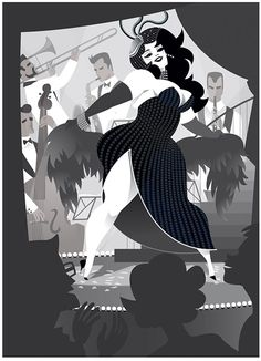 Love this illustration by Steffi Schuetze. The monochrome is perfect.