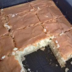 Almond cake with caramel frosting. O. M. GOSH!!!!!