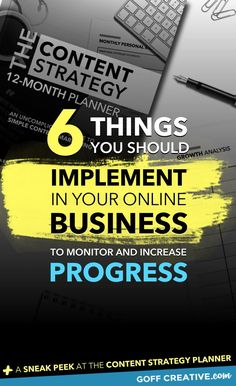 There's a LOT of info out there on how to grow your business online and yada, yada. I get it. That's why I decided to create this post: the 6 things you should start doing in your business to track and grow. Click through to get the skinny or Pin this for later!