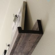 DIY $10 Shelf that ANYONE can build!!! My son had a big blank wall that needed some love. I built him 2 shelves for $20 and I LOVE the results. These are so e...