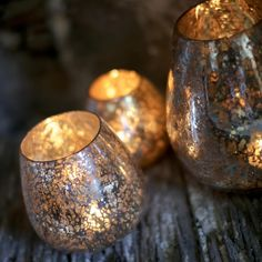 Seeta Rustic Silver T-Light