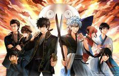 Gintama : Shinsengumi vs Yorozuya by Shumijin.deviantart.com on @DeviantArt