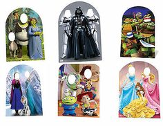 KIDS BIRTHDAY PARTY PHOTO STAND IN CUTOUT PROP - FROZEN, STAR WARS, TOY STORY #starwarsparty #starwarskids #starwarshighend Star Wars Party Decorations, Pastel Designs, Star Wars Kids, Winter Photos, Toy Story Party, Disney Toys, Happy Birthday Banners, Childrens Party, Party Photos