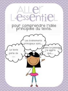 posters littérature Ap French, Learn French, Grade 1 Reading, French Classroom, French Resources, Classroom Posters, Teaching French, Daily 5, Graphic Organizers