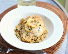 Pan Seared Grouper with Lemon White Wine Butter Sauce