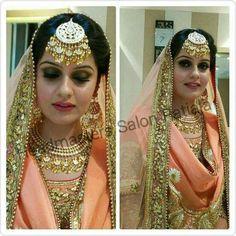 Jewerly Desing Indian Bridal Makeup 58 Ideas For 2020 Sikh Wedding Dress, Punjabi Wedding Suit, Punjabi Bride, Wedding Wear, Wedding Suits, Perfect Wedding Dress, Bridal Dresses, Punjabi Suits, Walima Dress