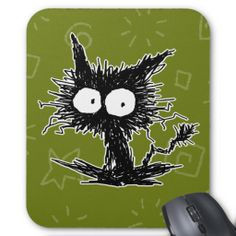 GabiGabi Mousepad ! :D  #Cat #Mousepad #Kitten #Green #BigEyes