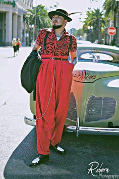 1940s Mens Fashion, Suit Fashion, Gothic Fashion, Fashion Looks, Vintage Fashion, Fashion Outfits, Cholo Style, Female Poets, Garment District