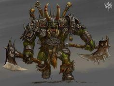 Orque, par Adrian Smith, in Age of Reckoning Warhammer Online, Warhammer Aos, Warhammer 40000, Fantasy Battle, Fantasy Armor, Medieval Fantasy, Troll, Orc Armor, Warhammer Fantasy Roleplay