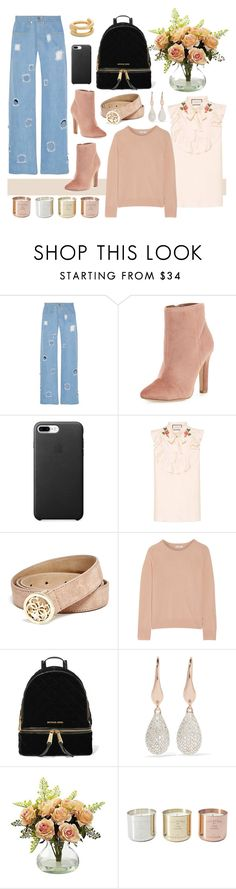 """Hole-y"" by cherieaustin ❤ liked on Polyvore featuring Rejina Pyo, Joie, Gucci, GUESS, Equipment, MICHAEL Michael Kors, Monica Vinader, Nearly Natural, Tom Dixon and Eddie Borgo"