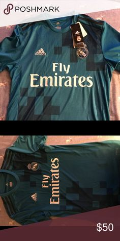 9e9bcf38a Adidas Real Madrid official 2017 18 Jersey 100% Official Real Madrid 2018  Third Jersey