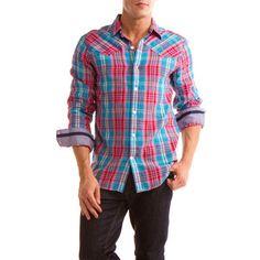 G Force Shirt Red/Blue Plaid
