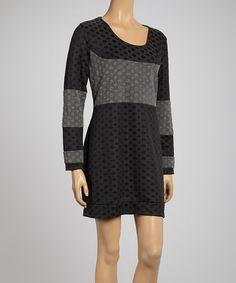 Look at this #zulilyfind! Black Polka Dot Dress - Women by Zashi #zulilyfinds