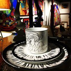 """""""Piano'  fine #dinning #tableware #piano #porcelain #coffeecup #black&white #platinum #details #artist #kunst #porcelæn #kaffe #sortoghvid #elizabethromhild #hjem #bolig #living #lifestyle #klaver"""