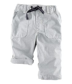 cotton poplin pants