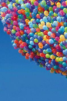 Rainbow of Balloons….wow!