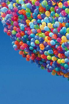 Rainbow of Balloons….wow!