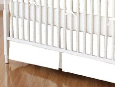 SheetWorld  MINI Crib Skirt 24 x 39  Solid White Woven  Made In USA >>> Click image to review more details.