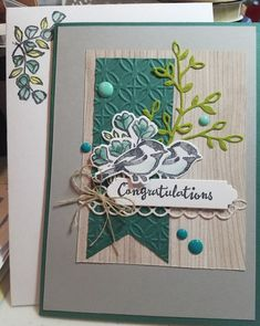 Congratulations card by ScripperScrapper Stampin Up Petal Palette