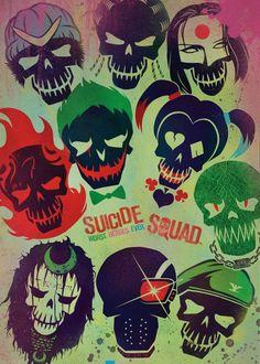 SUICIDE SQUAD SKULLS MOVIE POSTER FILM A4 A3 ART PRINT CINEMA