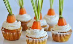 Mrkvové cupcakes s pomarančovým cream cheese krémem