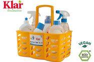 Klar/Almawin Produkte zum Starten, sechs Haushaltsprodukte + gratis Korb.