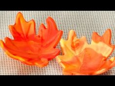 How to Marble Fondant for Fall Leaves