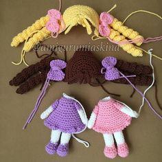 46 Likes, 7 Comments - Nihal A Pin by Amifriends on crochet dolls_ amigurumis Sweet little crochet doll base This Pin was discovered by Atö Amigurumi At Yapılışı Crochet Motifs, Crochet Doll Pattern, Crochet Stitches, Cute Crochet, Crochet Baby, Knit Crochet, Crochet Things, Crochet Patterns Amigurumi, Amigurumi Doll