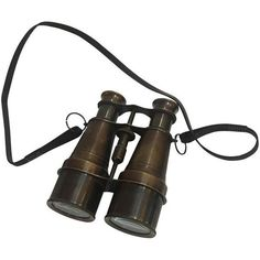 Bronzed Brass Binoculars With Strap ($65) ❤ liked on Polyvore featuring home, home decor, curiosities, brass home decor, bronze home decor and brass home accessories
