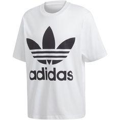 adidas Originals Men's adicolor Big Logo T-Shirt (10.090 HUF) ❤ liked on Polyvore featuring men's fashion, men's clothing, men's shirts, men's t-shirts, white, mens white t shirts, mens oversized t shirt, mens t shirts, mens white shirts and adidas mens shirts