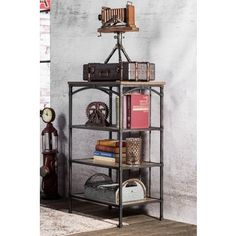 Shop for Furniture of America Brywood Natural Industrial 4-Shelf Side Table. Get free shipping at Overstock.com - Your Online Furniture Outlet Store! Get 5% in rewards with Club O!