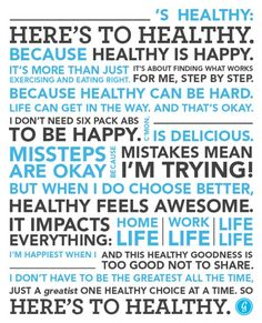 Here's to Healthy #health #fitness #inspiration