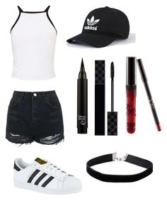 """""""Untitled #22"""" by shaycarrrr ❤ liked on Polyvore featuring Miss Selfridge, Topshop, adidas, Gucci and Kylie Cosmetics"""