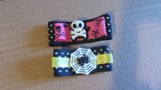 Spooky cute hair clip set by mommymisfit on Etsy, $5.00