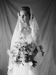 Annie Ekstrom Bridal Mantilla Veil Made With Ivory English Net Annieekstrombridal