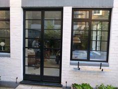aluminium crittall style windows and doors SW London French Doors Bedroom, French Door Curtains, French Doors Patio, Patio Doors, Aluminium French Doors, Aluminum Screen Doors, Aluminium Windows, Interior Barn Doors, Exterior Doors