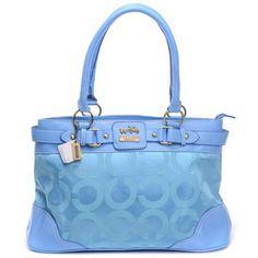 Blue Coach bag.. <3 it