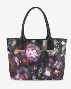 f143b2888 Shadow Floral neoprene shopper bag - Mid Gray