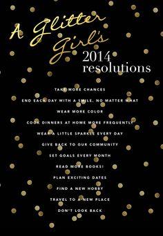 A Glitter Girl's 2014 Resolutions
