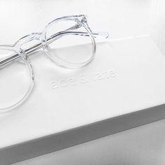 a3796afb9e via  aceandtate on Instagram White Frame Glasses