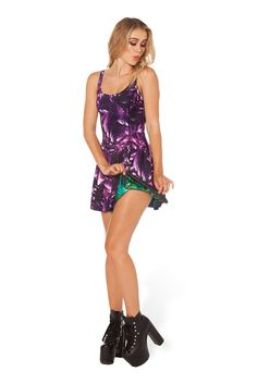 Amethyst VS Aurora Skye Inside-out Dress - LIMITED by Black Milk Clothing $170AUD