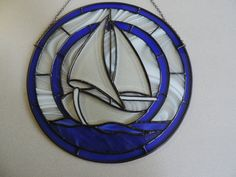 Stained Glass Sailboat with Bevels by RLJCreations on Etsy